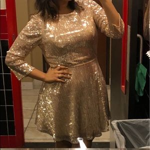 Gold Sparkly Dress (Sequin)